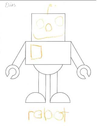 draw a robot at school j chris campbell. Black Bedroom Furniture Sets. Home Design Ideas