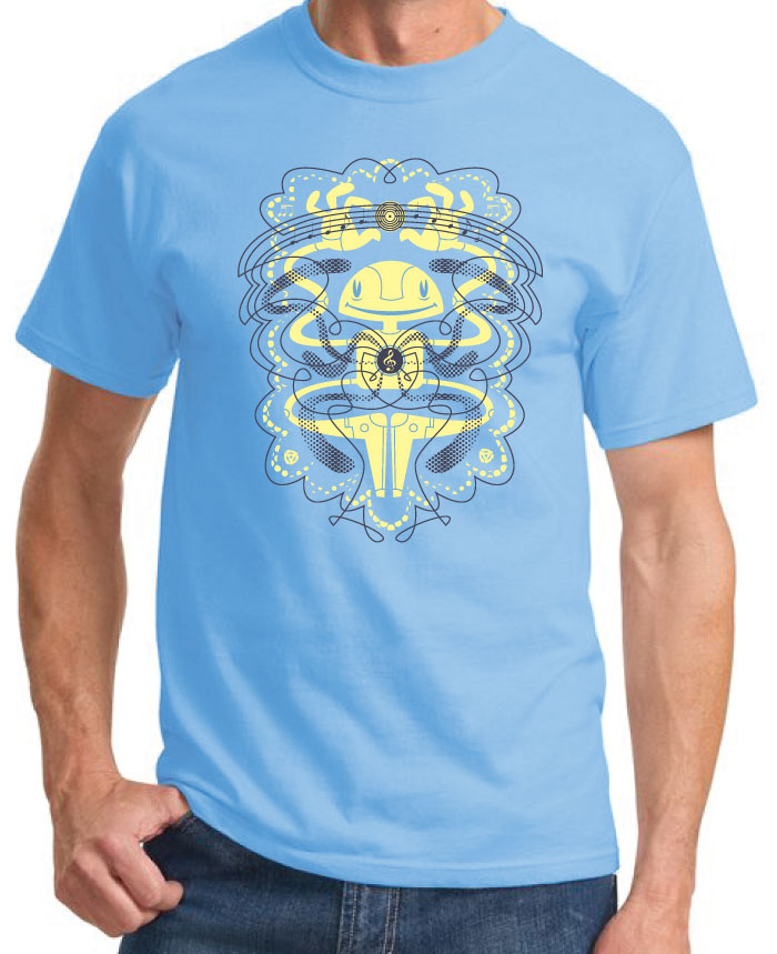 Rock your bot off - Neatobots tshirt by J Chris Campbell